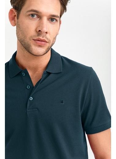 Avva Erkek  Polo Yaka Düz  Tişört A01B1175 Mavi